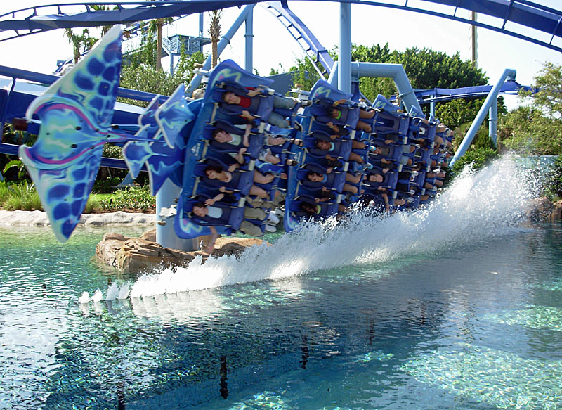 Manta Water Coaster SeaWorld Orlando